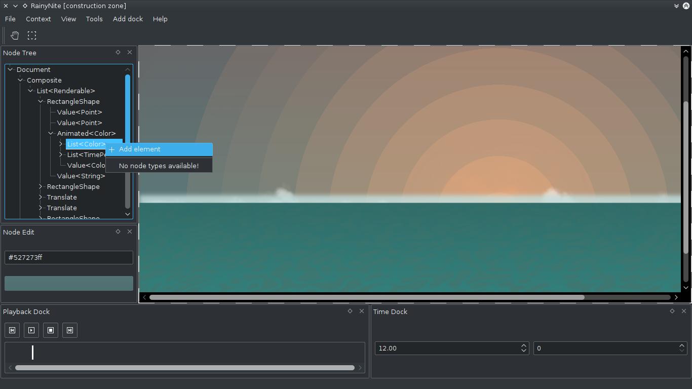 sunrise editing screenshot